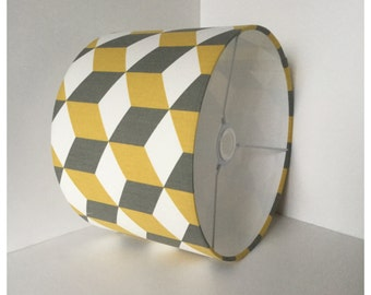 Saffron & Grey  Cube Lampshade,  Lightshade, Table Lamp, Modern Lightshade , Contemporary Lampshade