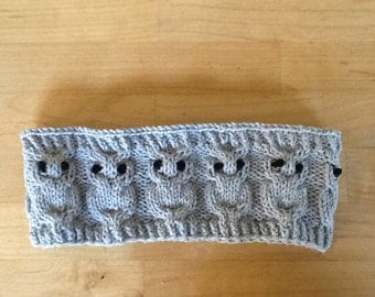 Owl headband, earwarmer