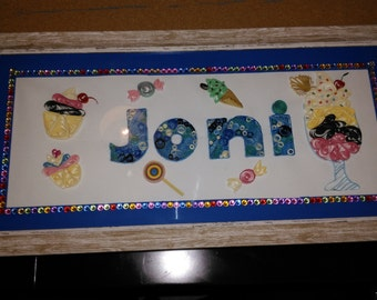 Customisable Quilled Name Frames