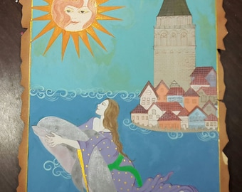 The Girl with Dolphin