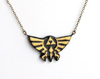 Legend of Zelda Inspired Hyrule Crest Necklace