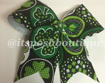 St Patrick's Day Clover Cheerbow