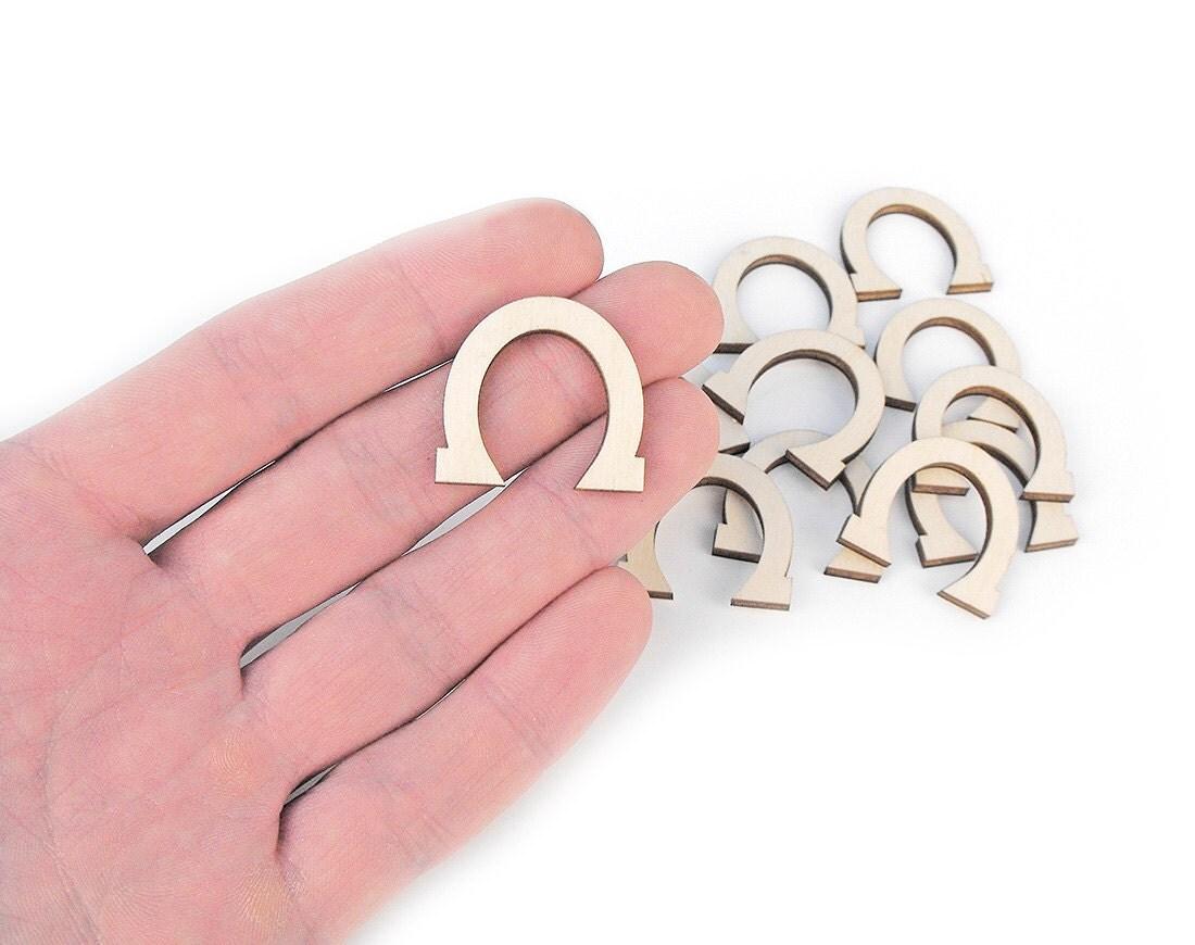 10x mini wooden horseshoe 1 shapes art projects craft for Wooden horseshoes for crafts