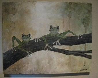 Frogs on a Limb