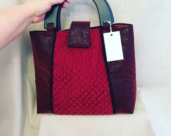 Red On The Town Tote