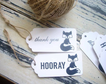 15 x Woodland Fox Gift Tags