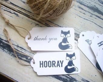 10 x Woodland Fox Gift Tags