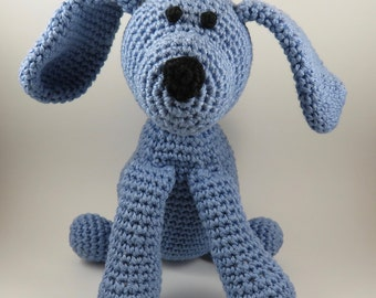 Crochet Dog Plush Toy - Amigurumi puppy-Organic cotton Baby toy