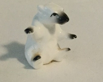 Vintage Bug House Miniature Polar Bear Figurine