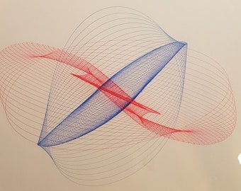 "Harmonic Drawing- .3mm Gel Ink-Original-Signed and Dated-8""x8"""