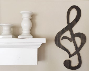 Treble Clef Heart Home Wall Decor