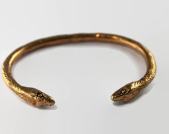 Snake Bangle  , Double Head Snake bangle, Serpent bracelet, Handmade bangle, Serpent Bangle