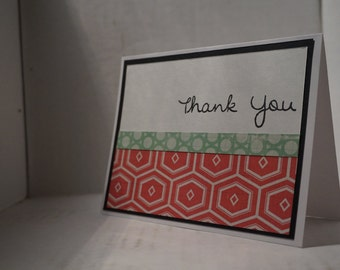 Thank You - Greeting Card Set - Watermelon