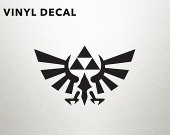 Legend of Zelda Triforce Vinyl Decal - Legend of Zelda, Zelda, Zelda Decal, Laptop Decal