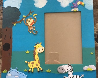 Zoo Animal Picture Frame 5x7