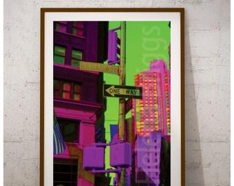 Broadway | New York City Print, Broadway Decor, Broadway Sign, Broadway Poster, New York At Night, Urban Photography, Urban Decor, Wall Art