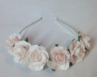 Dusky Pink Flower Crown