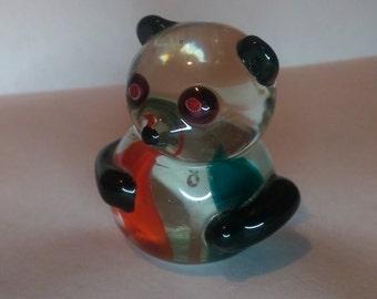Cute Panda Glass Figurine