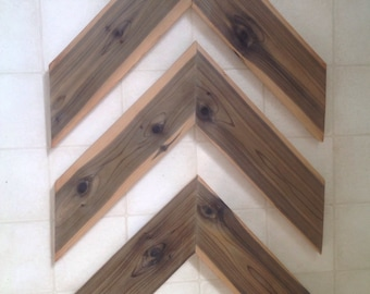 Wood Chevron Display
