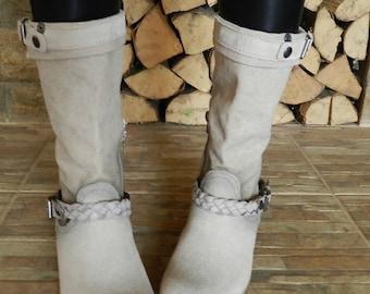 Nubuck boots