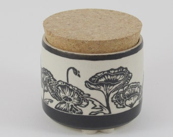Porcelain Jar w/ Cork Lid