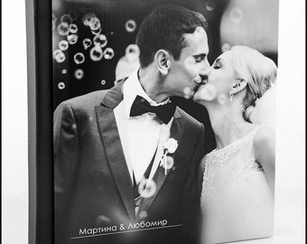 Custom Wedding Album. Personalized Wedding Photo Album.10X10 inches . 25X25 centimeters. 30 pages. Art design.