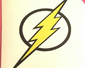 The Flash Vinyl,The Flash Decal,The Flash Logo,The Flash Sticker,DC Comics Decal,The Flash window sticker
