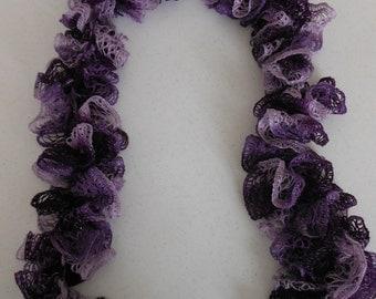 Crochet Ruffle Sashay Scarf