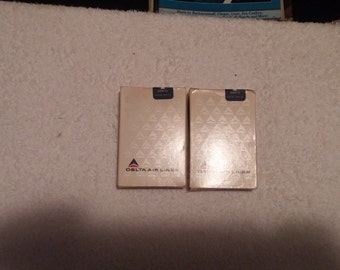Delta Airlines playing cards  -  sealed