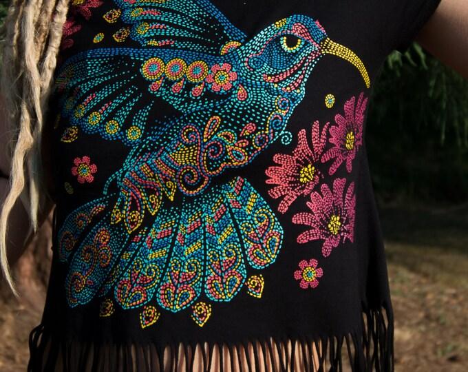 Black Fringe Hummingbird