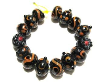 1 Strand Handmade Glass Lampwork Beads (B66-1)