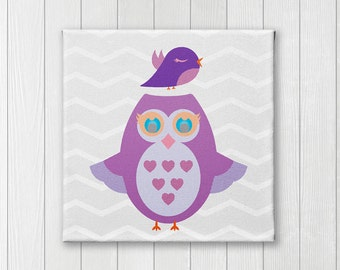 Owl, Canvas Nursery wall Art