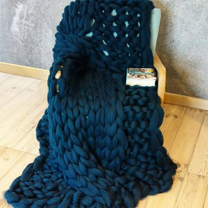 BIG SALESuper chunky cable knit blanket Chunky Knit Throw