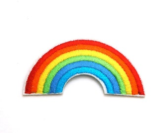 "2.75"" Rainbow Embroidered Sew Iron on Patch"