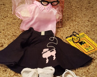American Girl Pleasant Company 50's Sock Hopper Halloween Outfit