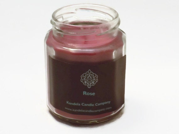 New! Rose Scented Candle in 9 oz. Twelve Sided Jar