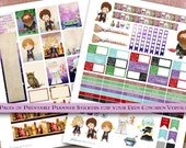 Harry Potter Printable Planner Sticker Kit - Erin Condren Vertical - PDF and JPEG - Instant Download - Wizard, Witch, Book Stickers, ECLP
