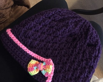 Girls hat with multicolor bows