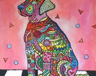 Folk art dog