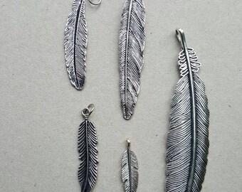 Feather pendants