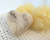 """Heart of Stone """"Marble"""" Felted Soap"""