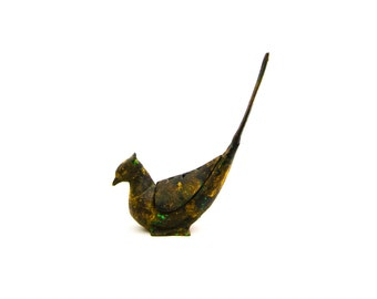 Iron Pheasant Incense Holder Burner