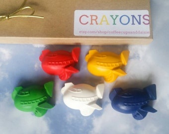 Airplane Crayons - Planes Birthday - Airplane Party - Plane party favors - Easter basket stuffers - Pilot party favors - Kids Easter Gift