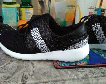 Girls/ womens diamante trainers or shoes made to order.