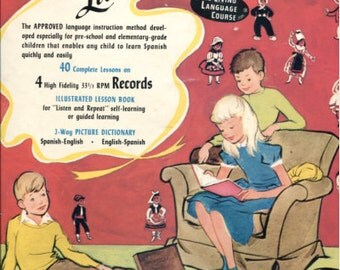 1960 Children's Spanish Lessons - 33 1/2 RPM Records