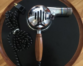 Vintage Chrome Hair Dryer with Bakelite knob from the Fifties