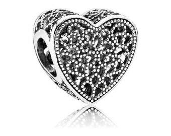 PANDORA Openwork Romance Heart Charm NEW collection No.791811