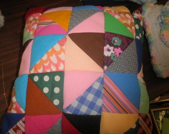 Vintage Quilted Accent Pillow