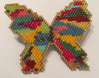 Multicolor Butterfly brooch