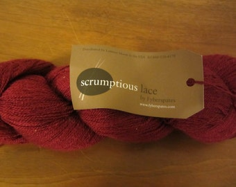Scrumptious Lace by Fyberspates in Water (Blue) & Cherry (Red)